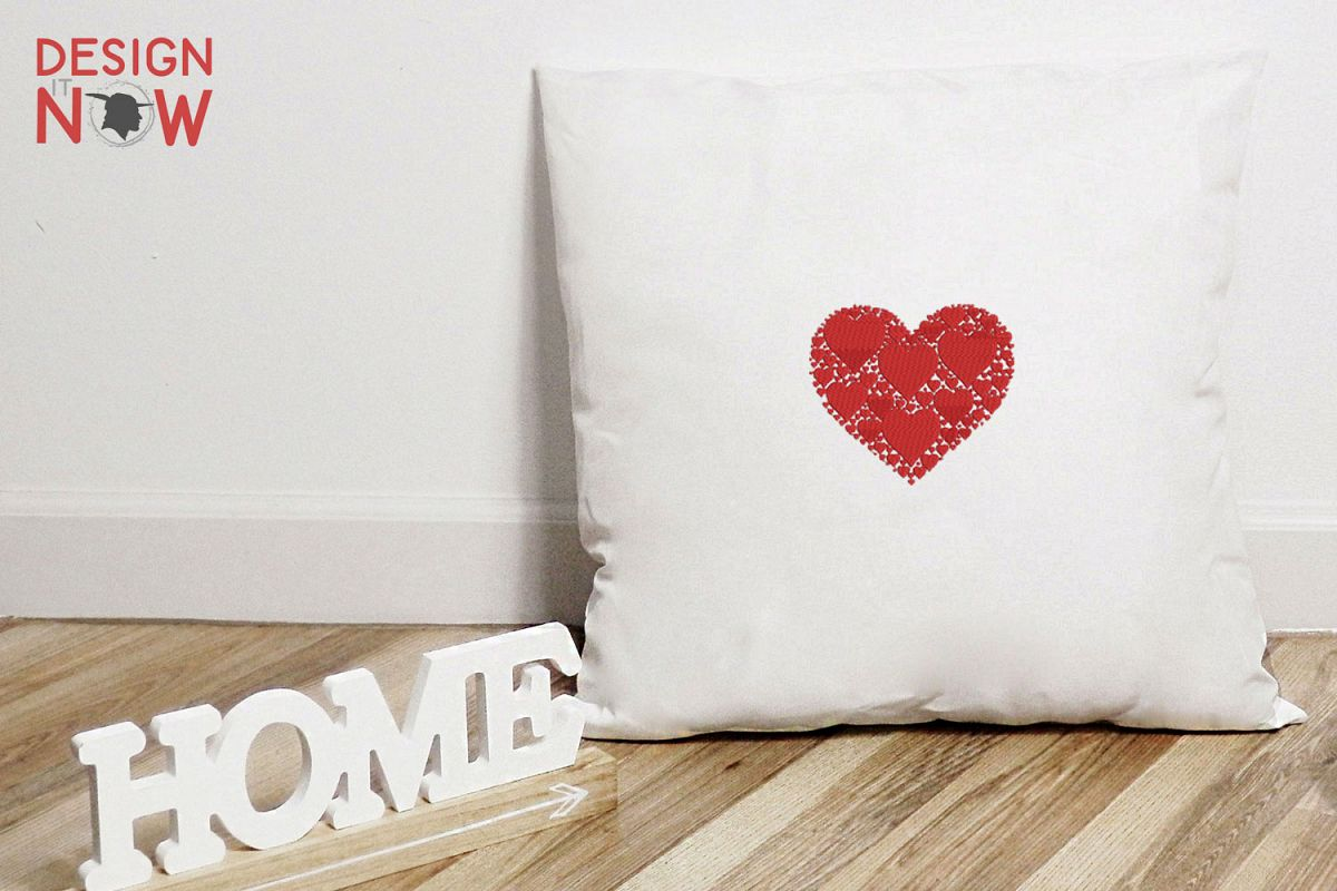 Heart Embroidery Design, Love Embroidery Pattern example image 1