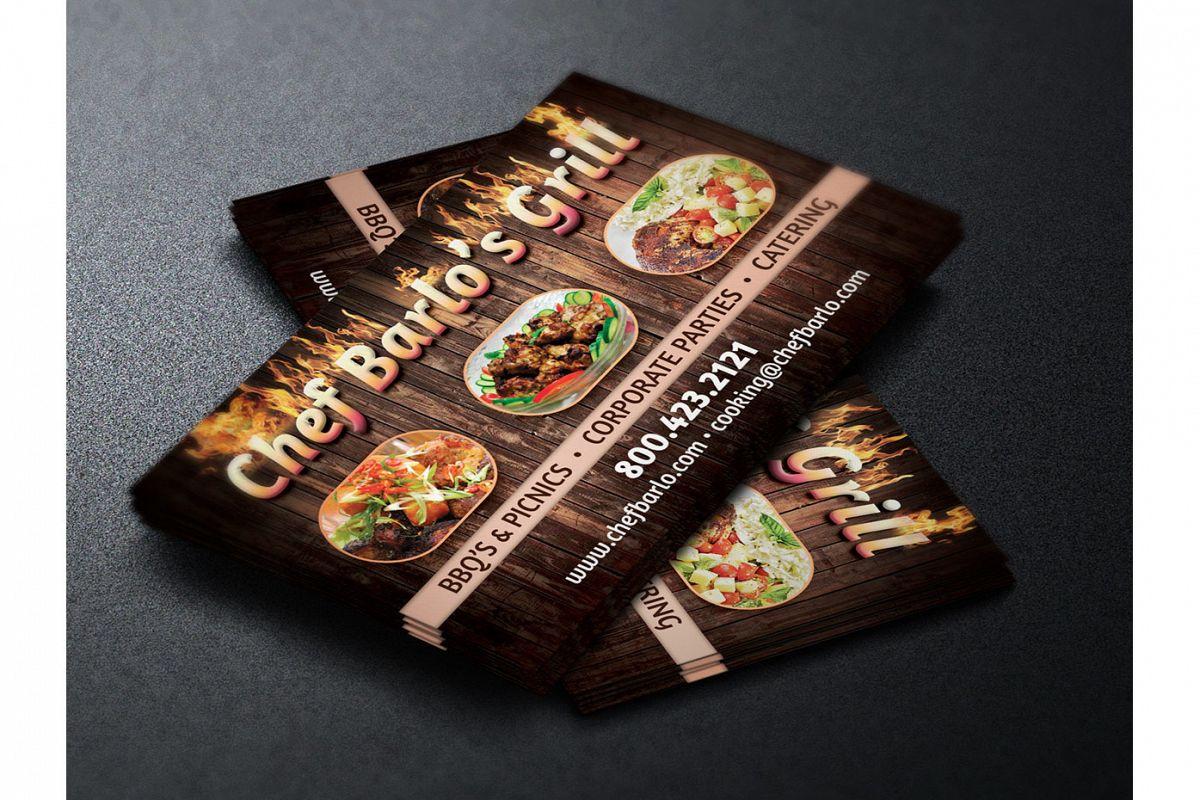 Chef business card template by godserv design bundles chef business card template example image colourmoves