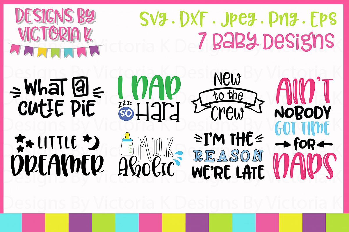 Baby Bundle, SVG, DXF, PNG example image 1