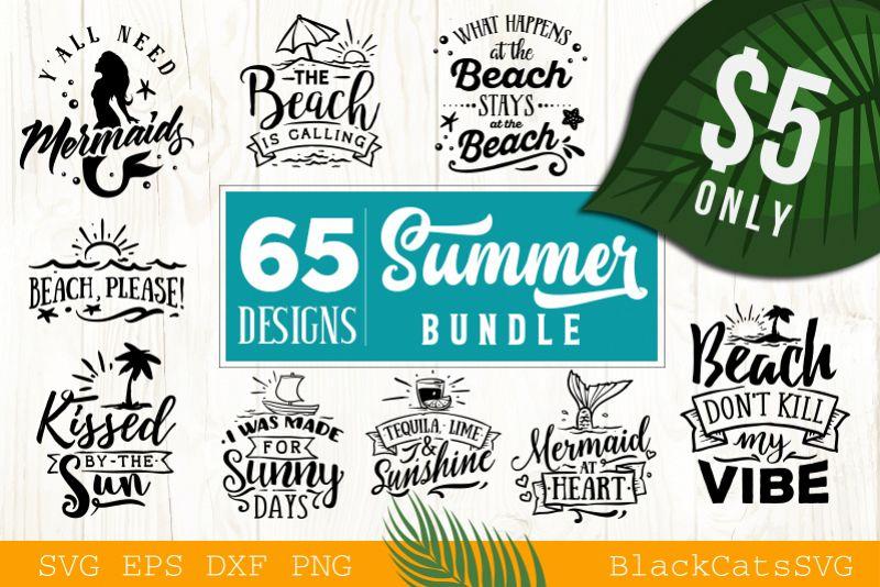 Summer SVG bundle 65 designs Beach SVG bundle example image 1