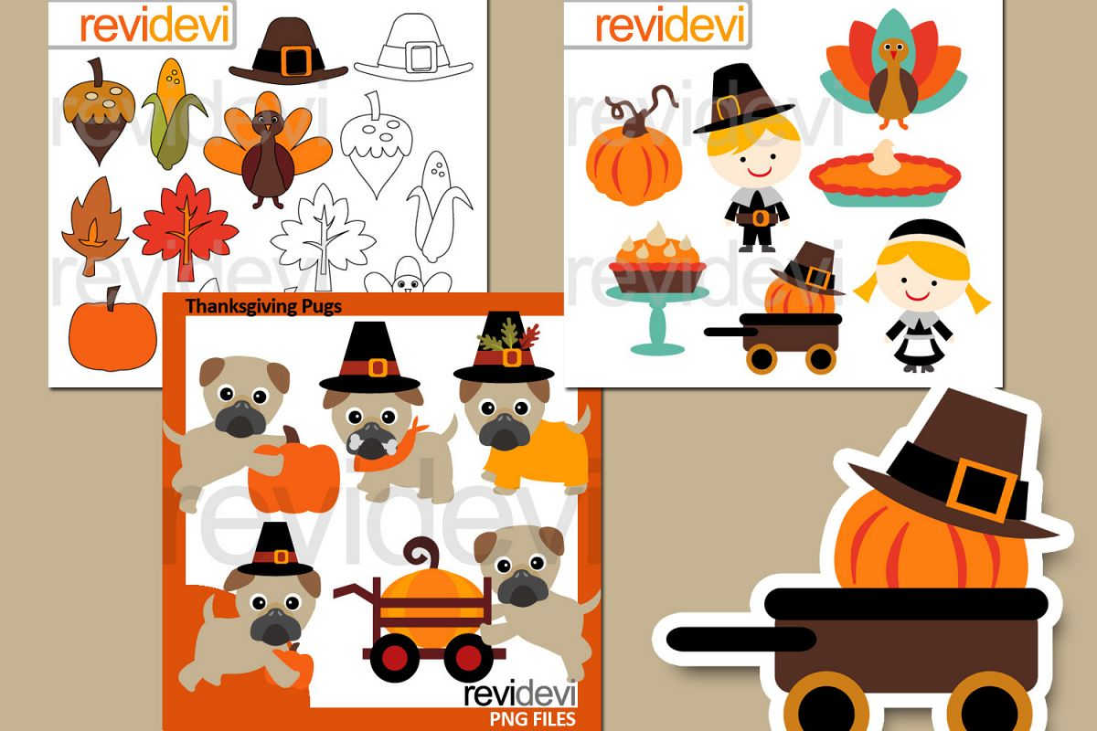 Thanksgiving Bundle Graphics example image 1
