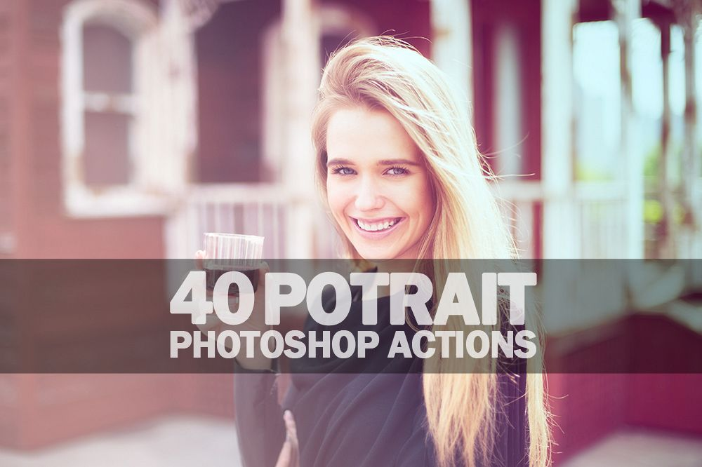40 Potrait Photoshop Actions Collection (Action for photoshop CS5,CS6,CC) example image 1