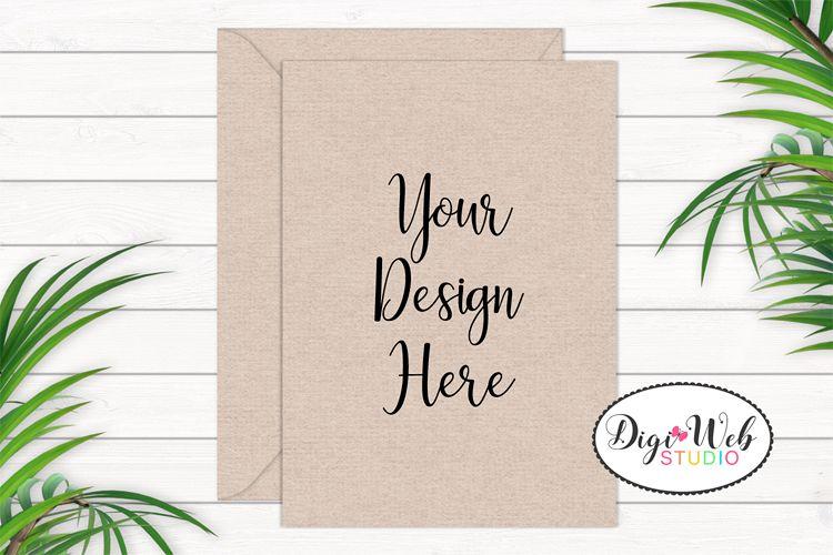 Card / Invitation Mockup - Natural / Minimal w/ Plants example image 1