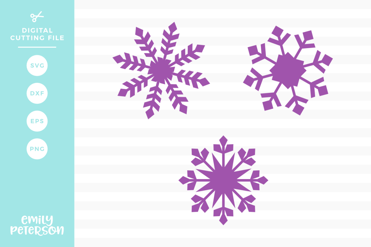 Snowflakes V2 SVG DXF EPS PNG example image 1