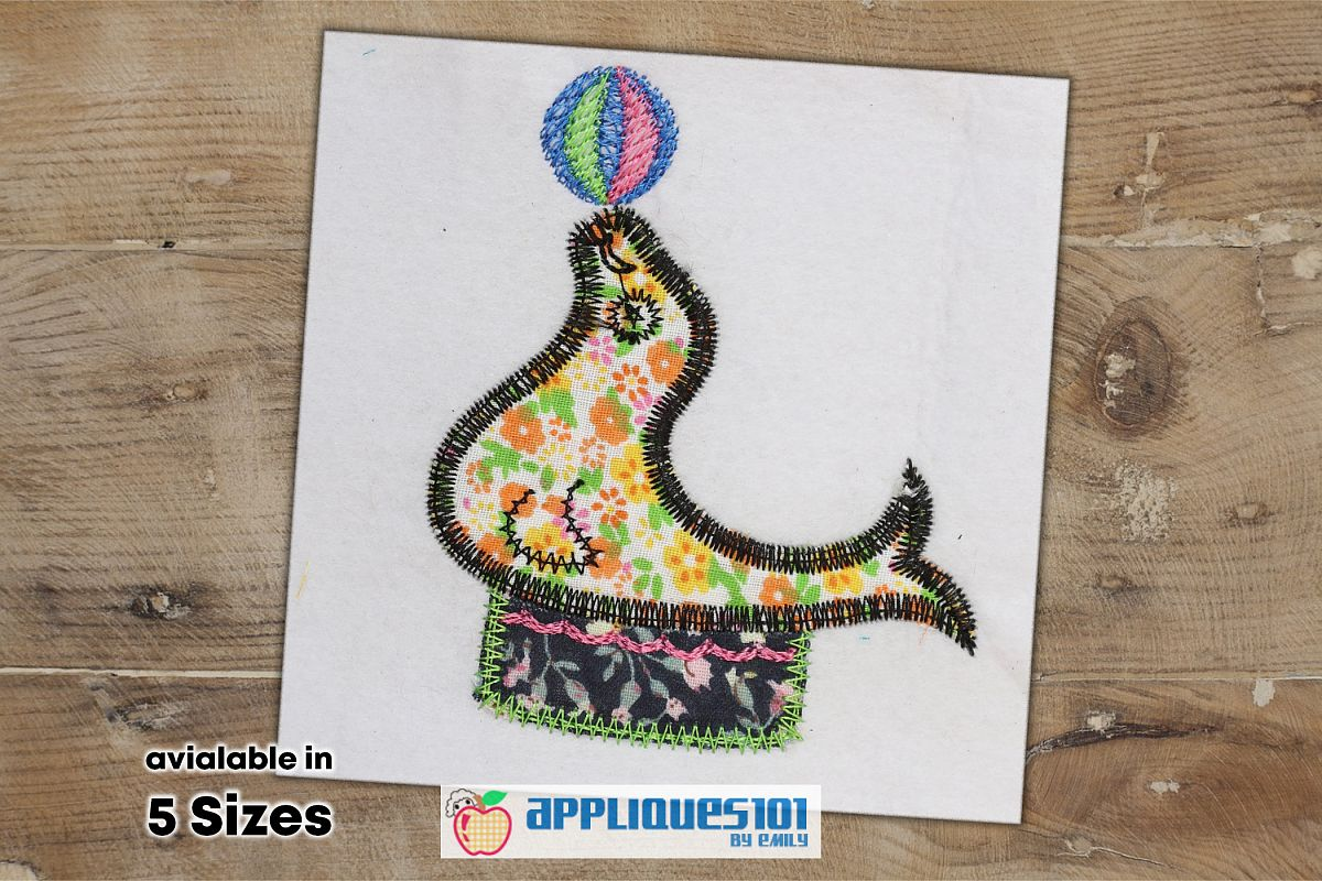 Seal Animal Embroidery Applique Design - Seals example image 1