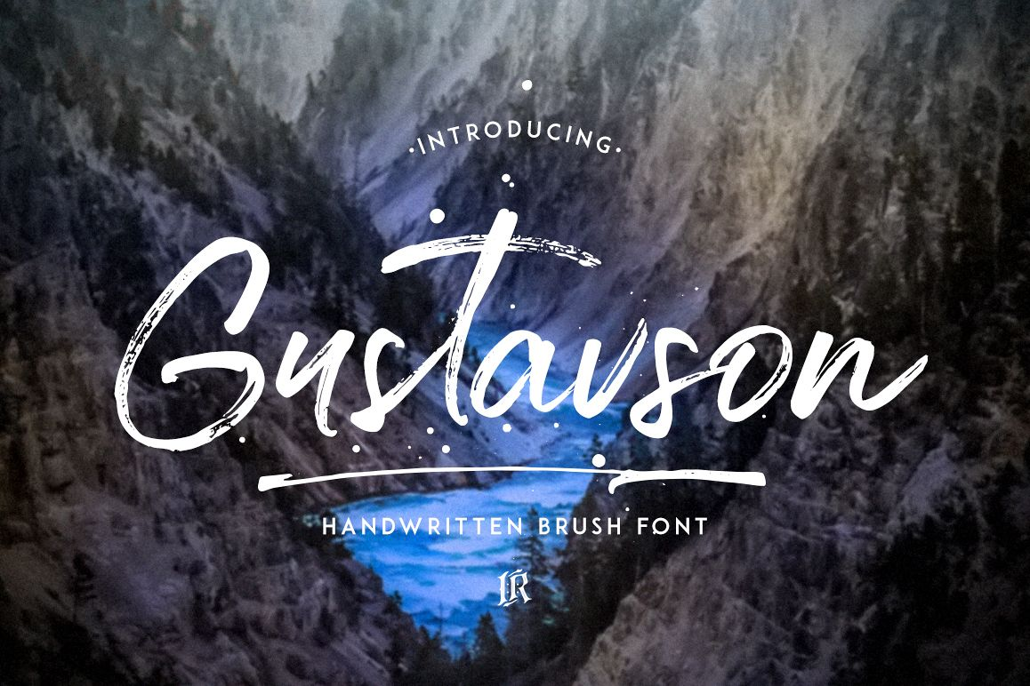 Gustavson Script Font example image 1