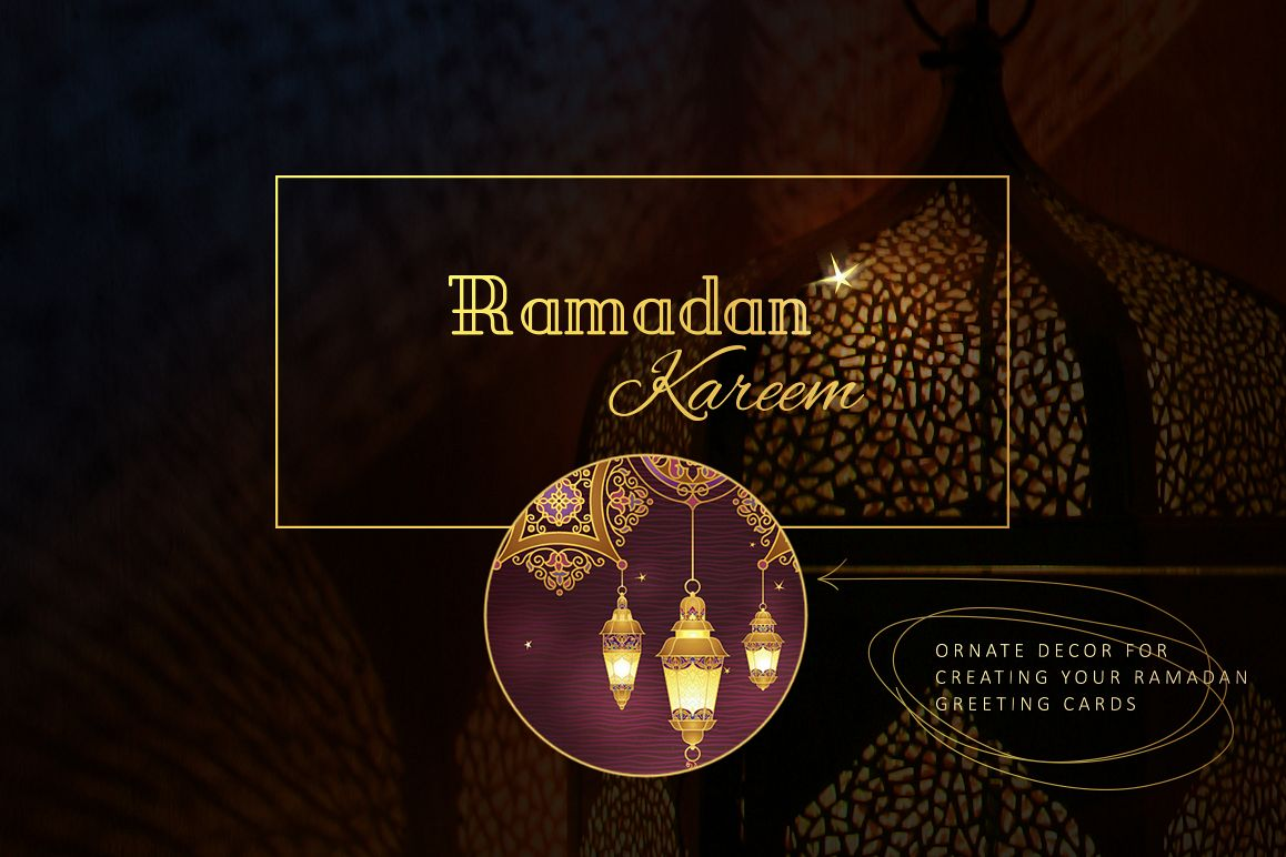 Kit Of Ramadan Greetings Elements By O Design Bundles