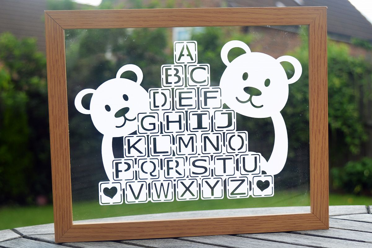 Teddy Bear Paper Cut SVG / DXF / EPS Files example image 1