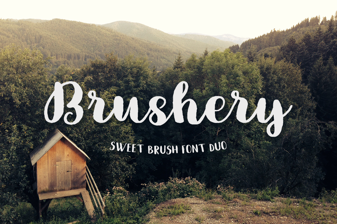 Brushery Font Duo example image 1