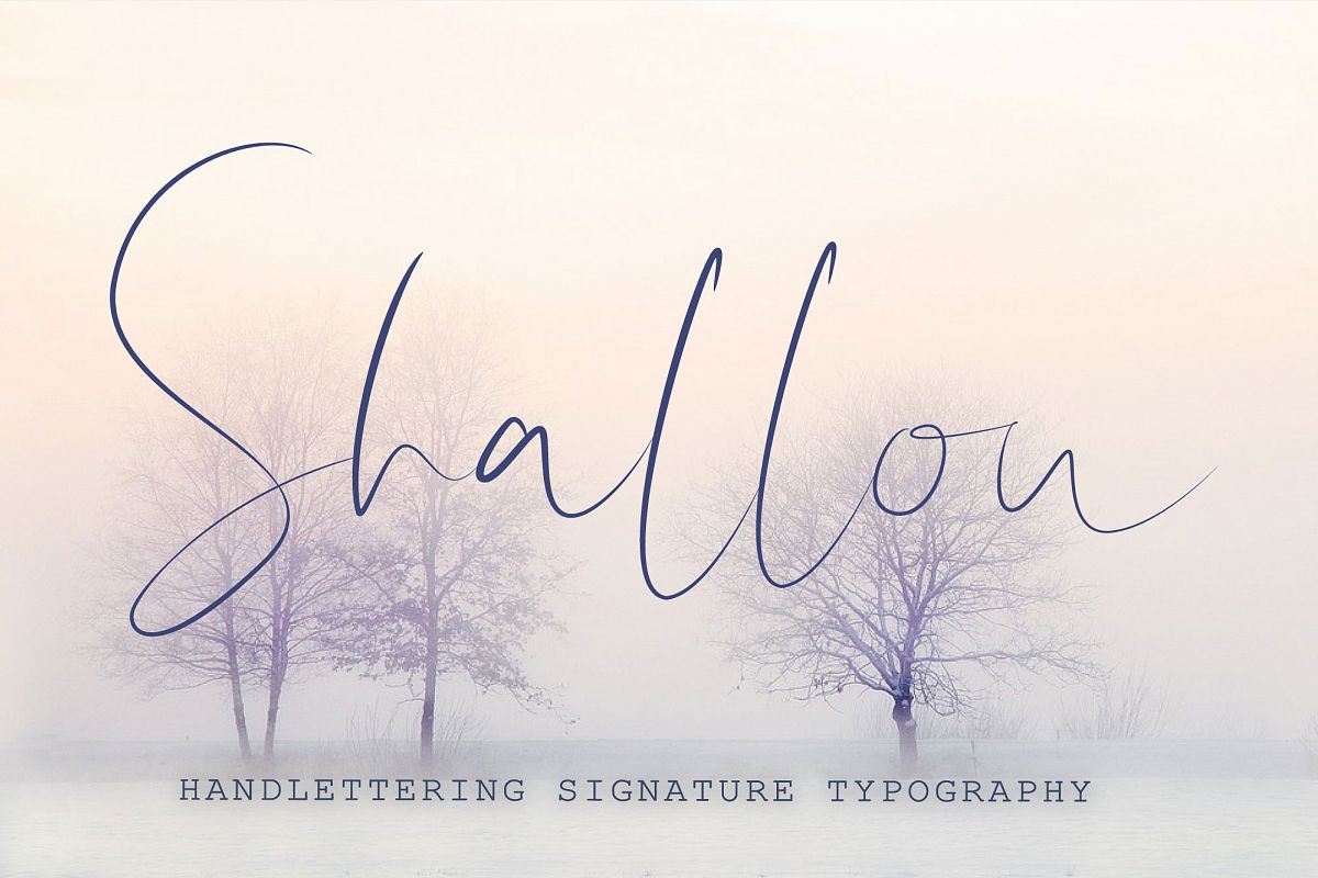 Shallou - Hand Lettering Font, Modern Calligraphy example image 1