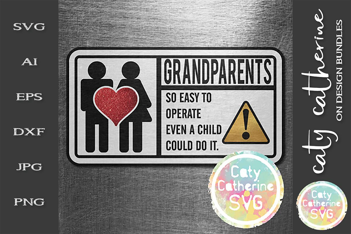 Grandparents So Easy To Operate Even A Child Could Do It SVG example image 1