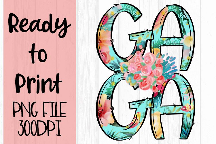 Bright Floral Gaga Ready to Print example image 1