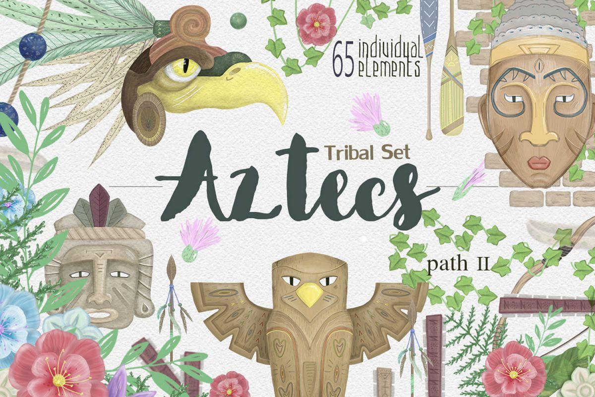 Aztecs. Tribal Set. part2 example image 1