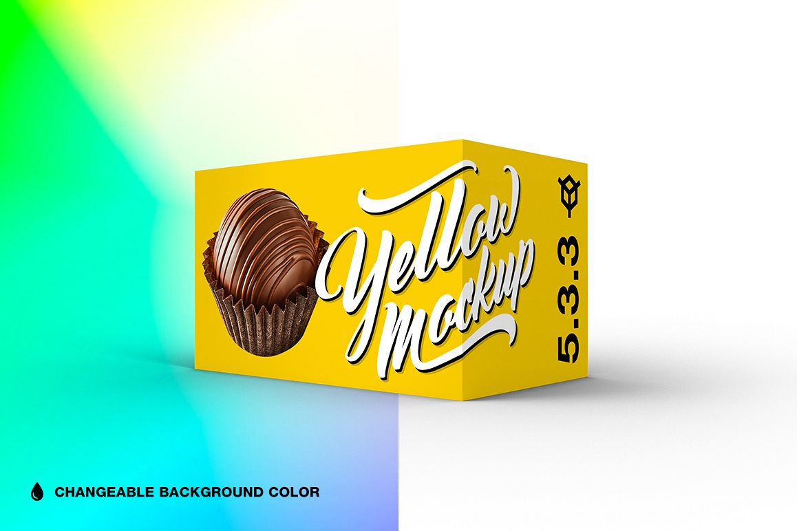 5.3.3 Simple 3D Box Mockup PSD example image 1