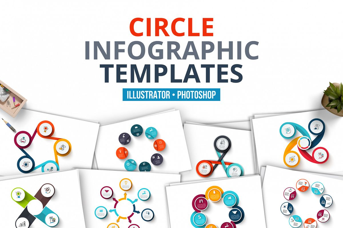 Circle infographic templates example image 1
