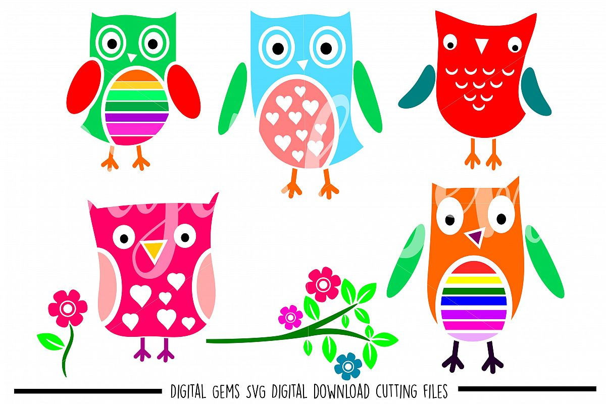Owl SVG / DXF / EPS / PNG files example image 1