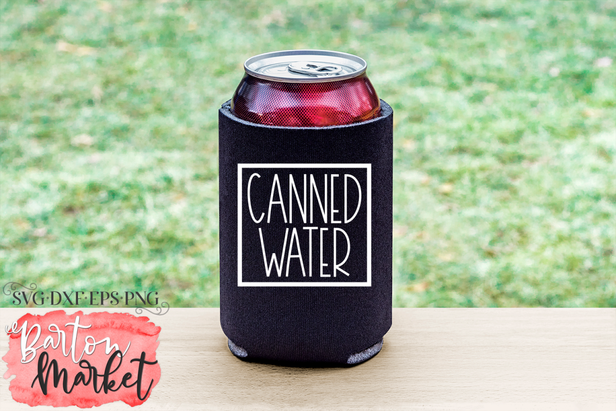 Canned Water SVG DXF EPS PNG example image 1