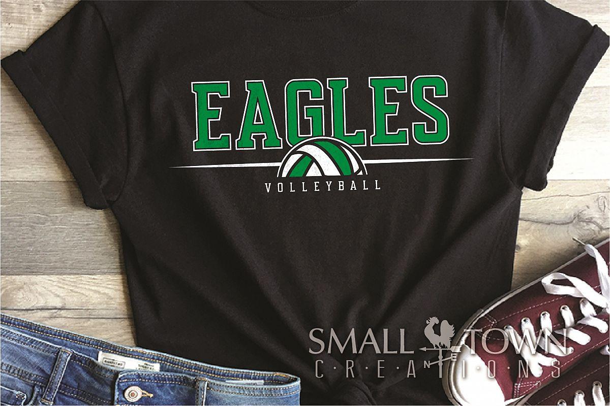 Eagle, Eagle volleyball, Team, logo, PRINT, CUT & DESIGN example image 1