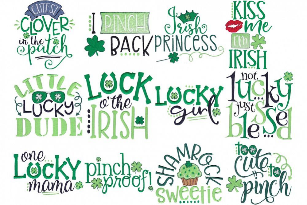 Irish Sayings - 12 Machine Embroidery Designs example image 1