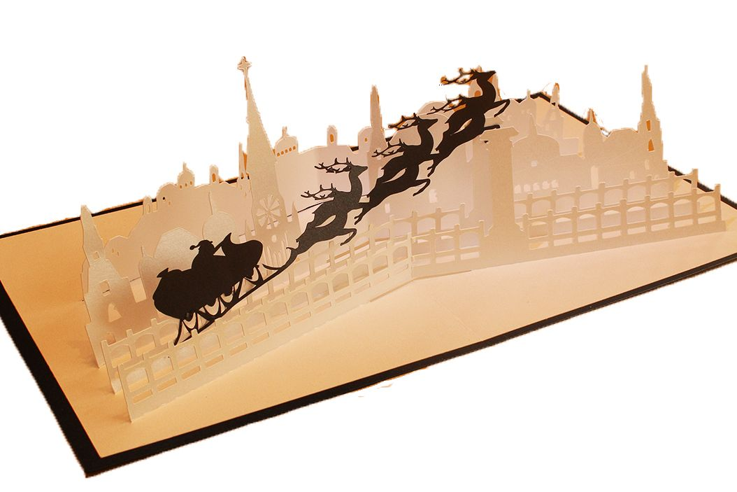 Night before Christmas pop up card example image 1