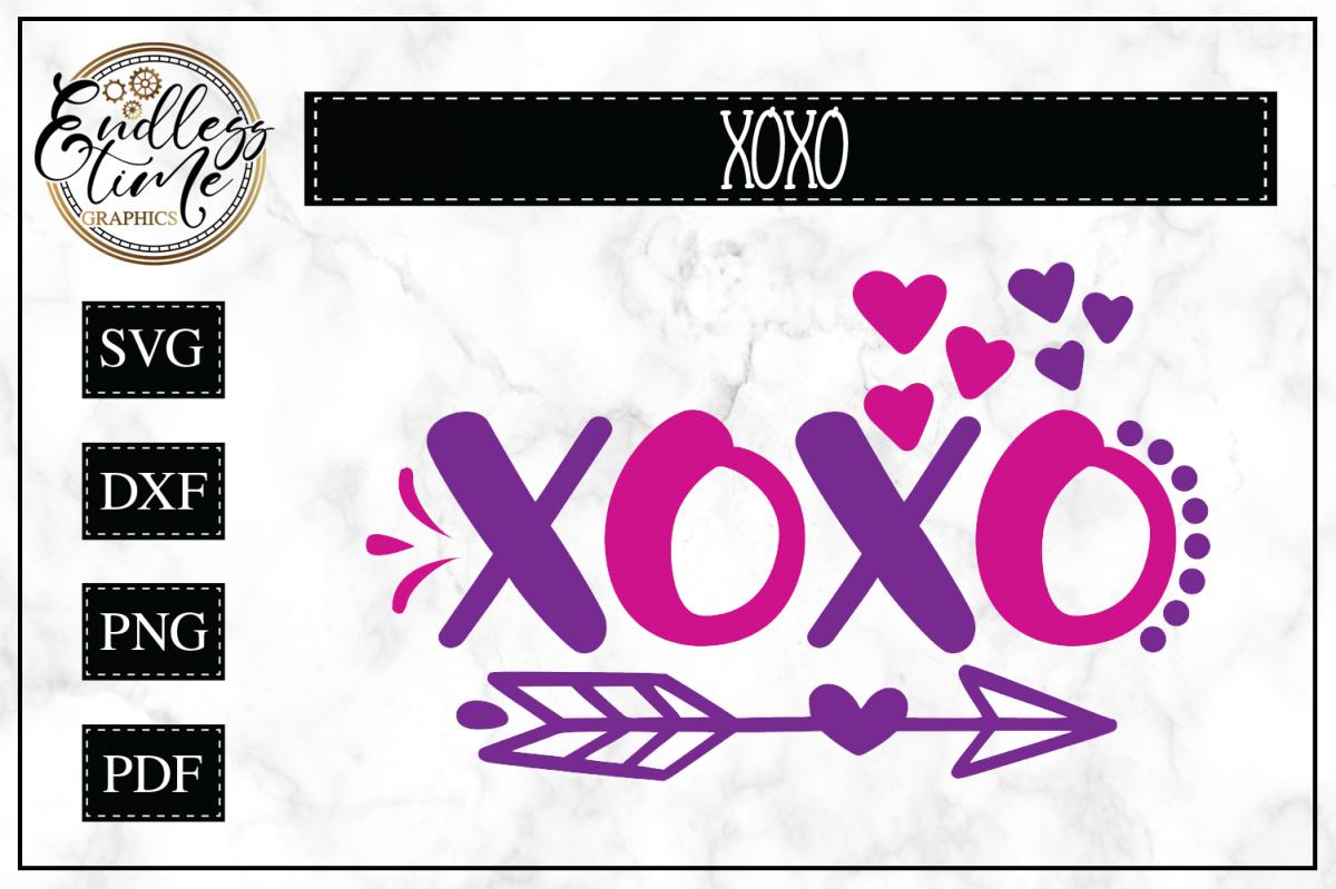 XOXO Svg Cut File  example image 1