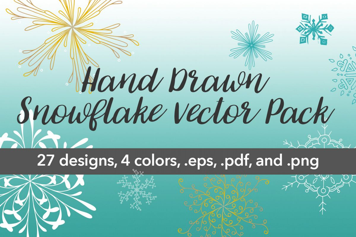 Snowflake Vector Pack example image 1