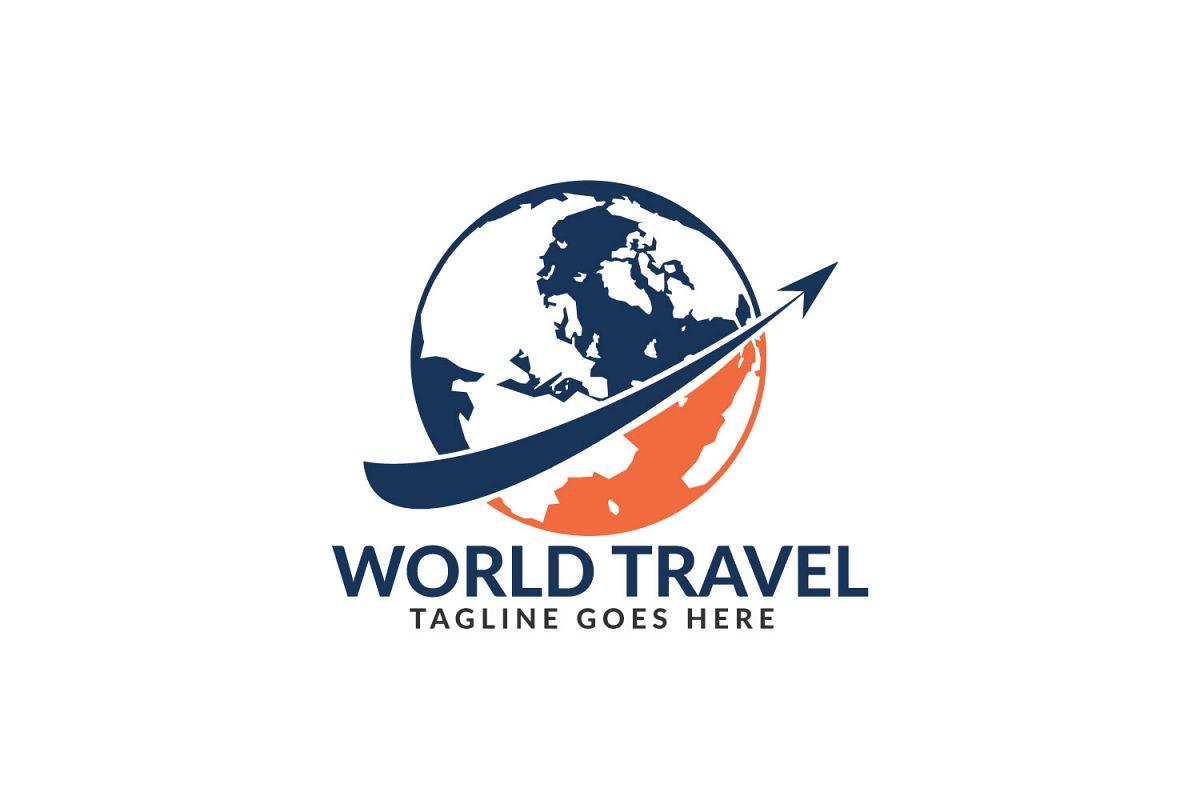 World Travel logo design. Travel agency and company logo. example image 1