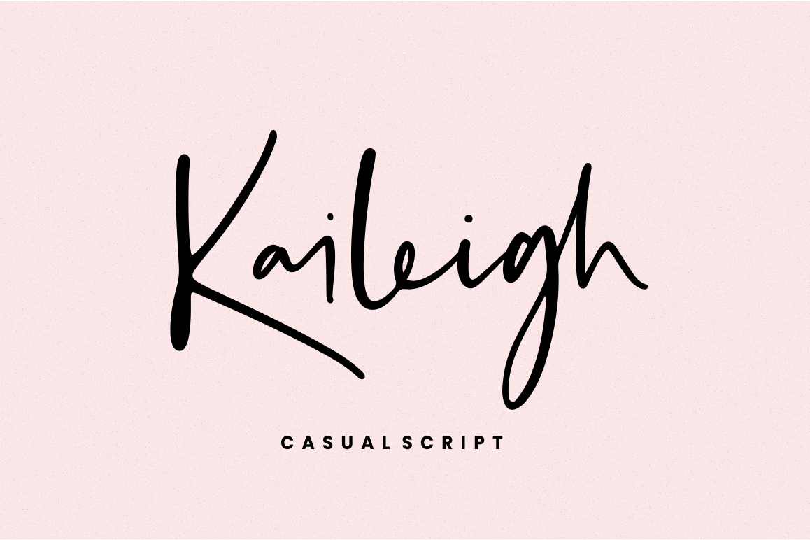 Kaileigh - Casual Script example image 1