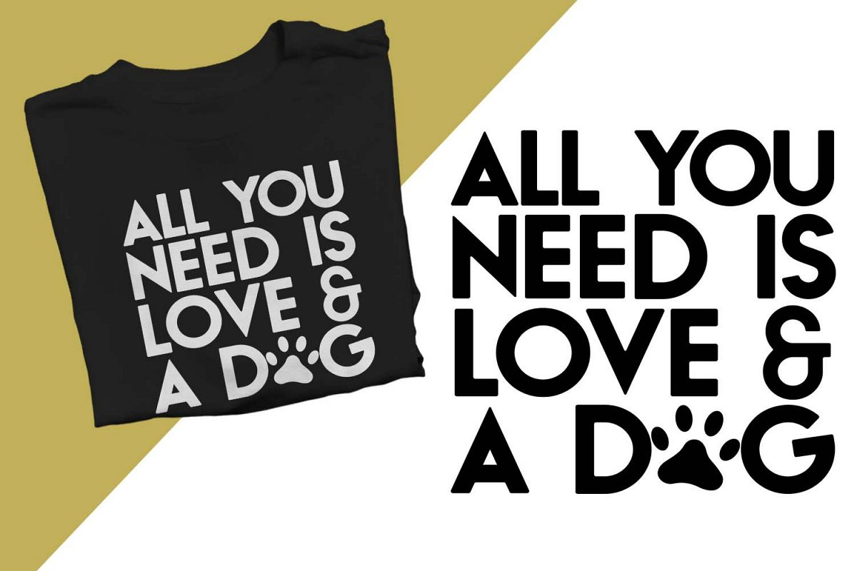 Love & A Dog Printable example image 1