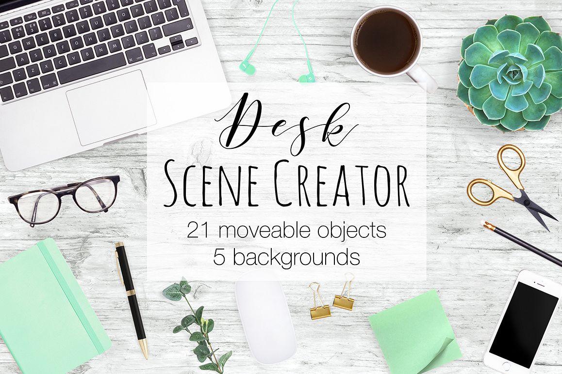 Desk Scene Creator Top View