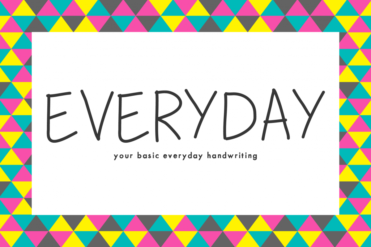 Everday - Your Basic Everyday Handwriting example image 1