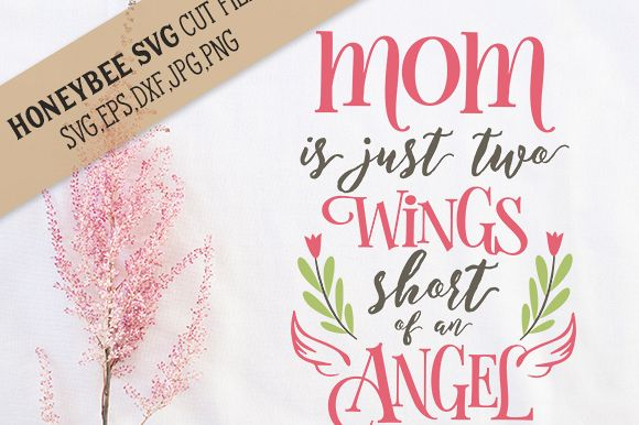 Mom Two Wings Short Angel cut file example image 1