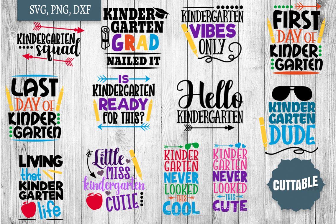 Kindergarten cut file bundle, Kindergarten SVGs cut files example image 1