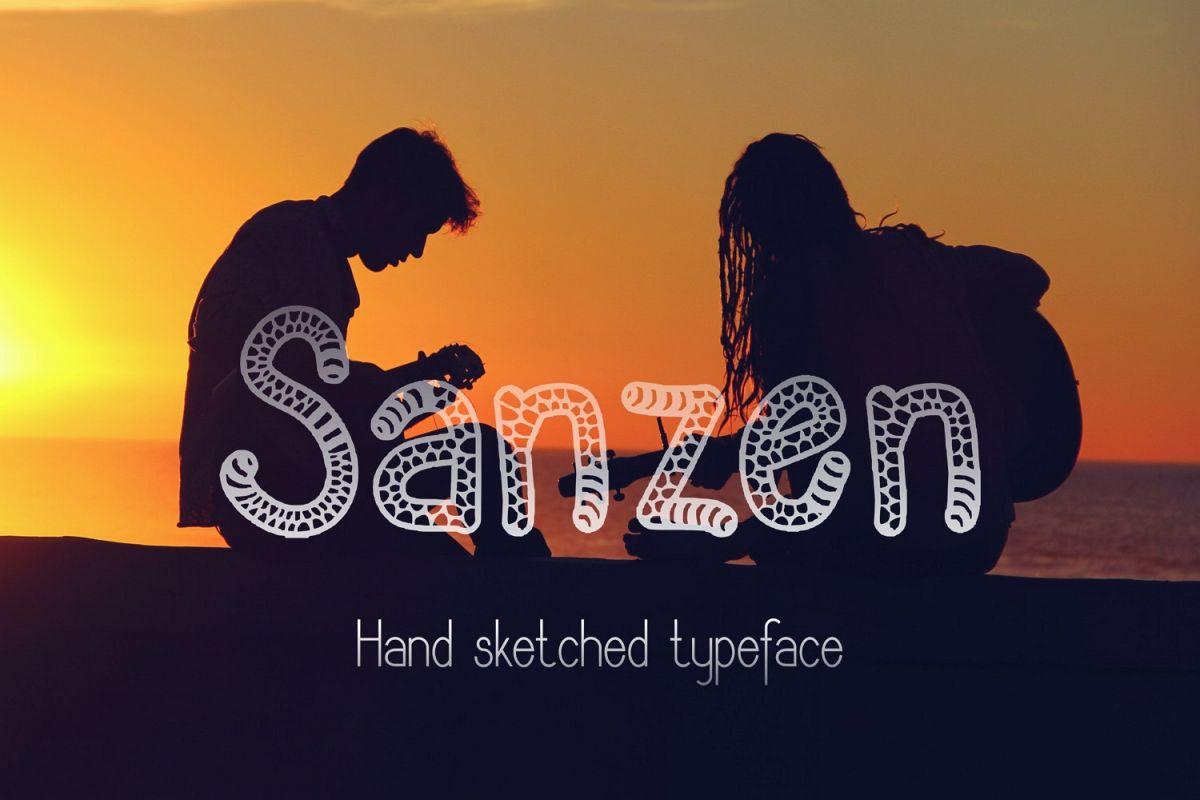 Sanzen Font example image 1