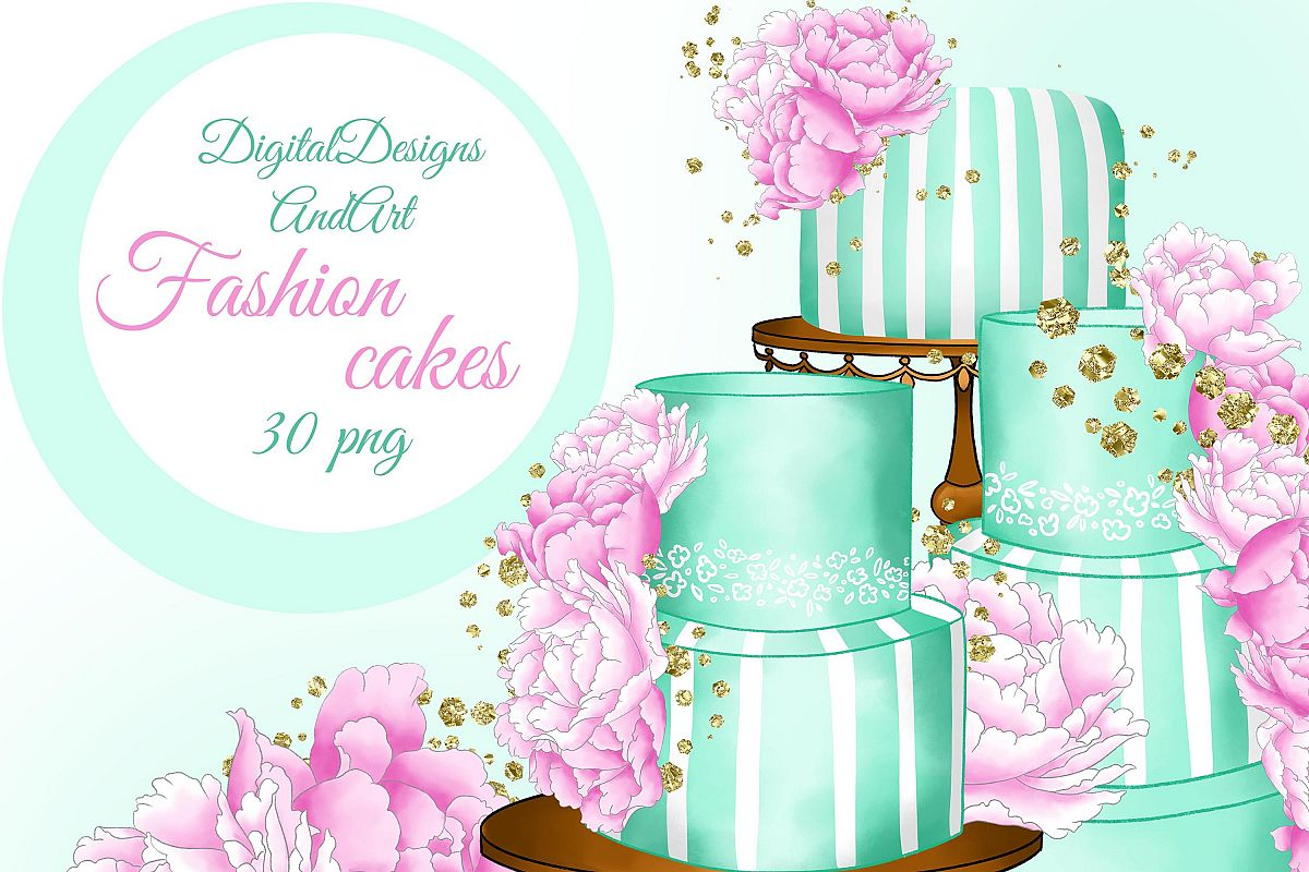 Fashion cakes clipart example image 1