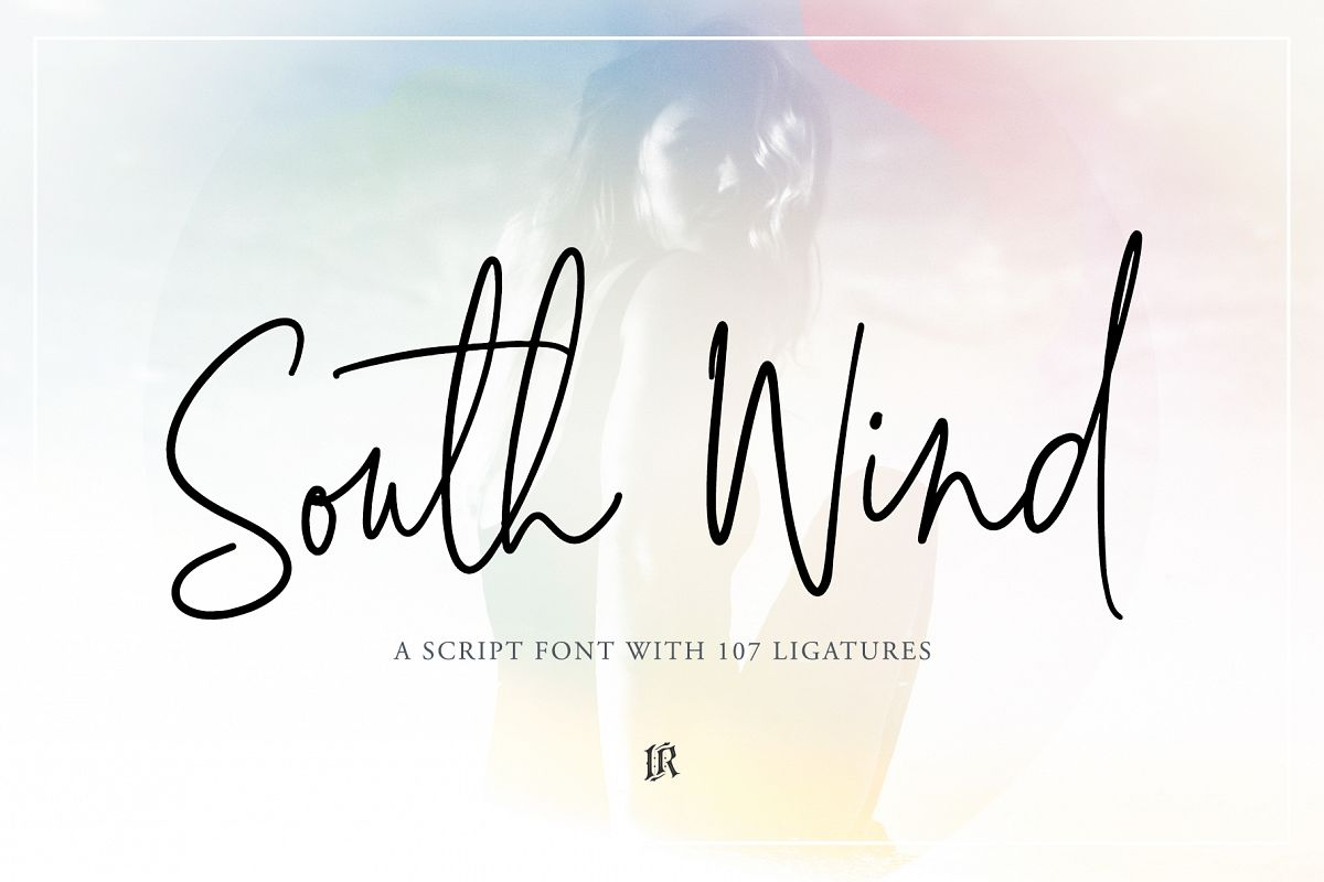South Wind Font example image 1