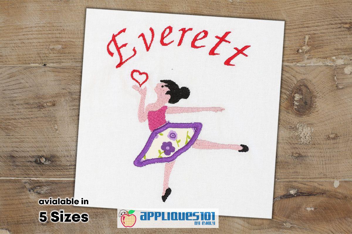 Ballerina Dancer Machine Embroidery Applique Design- Dancers example image 1