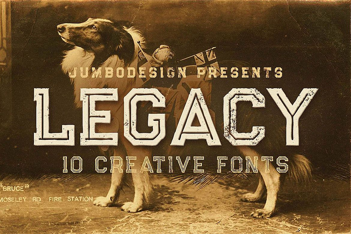 Legacy - Vintage Style Font example image 1