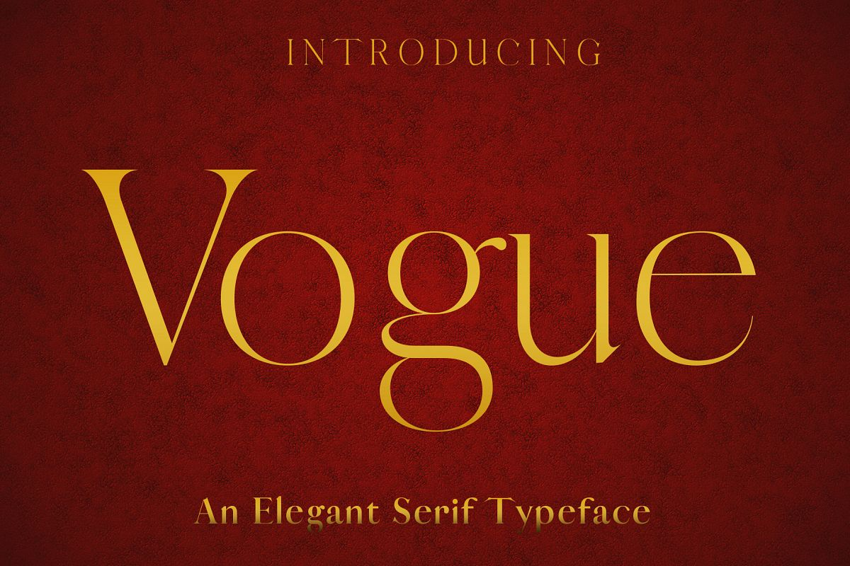 VOGUE - An Elegant Typeface example image 1