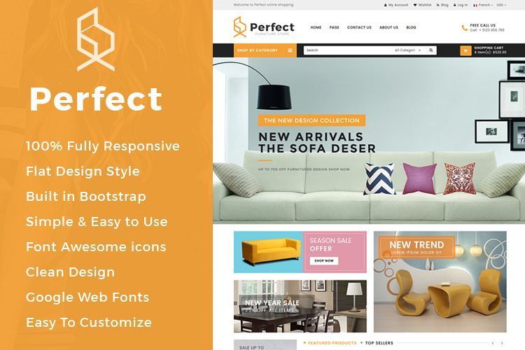 Perfect - Responsive Ecommerce HTML5 Template example image 1