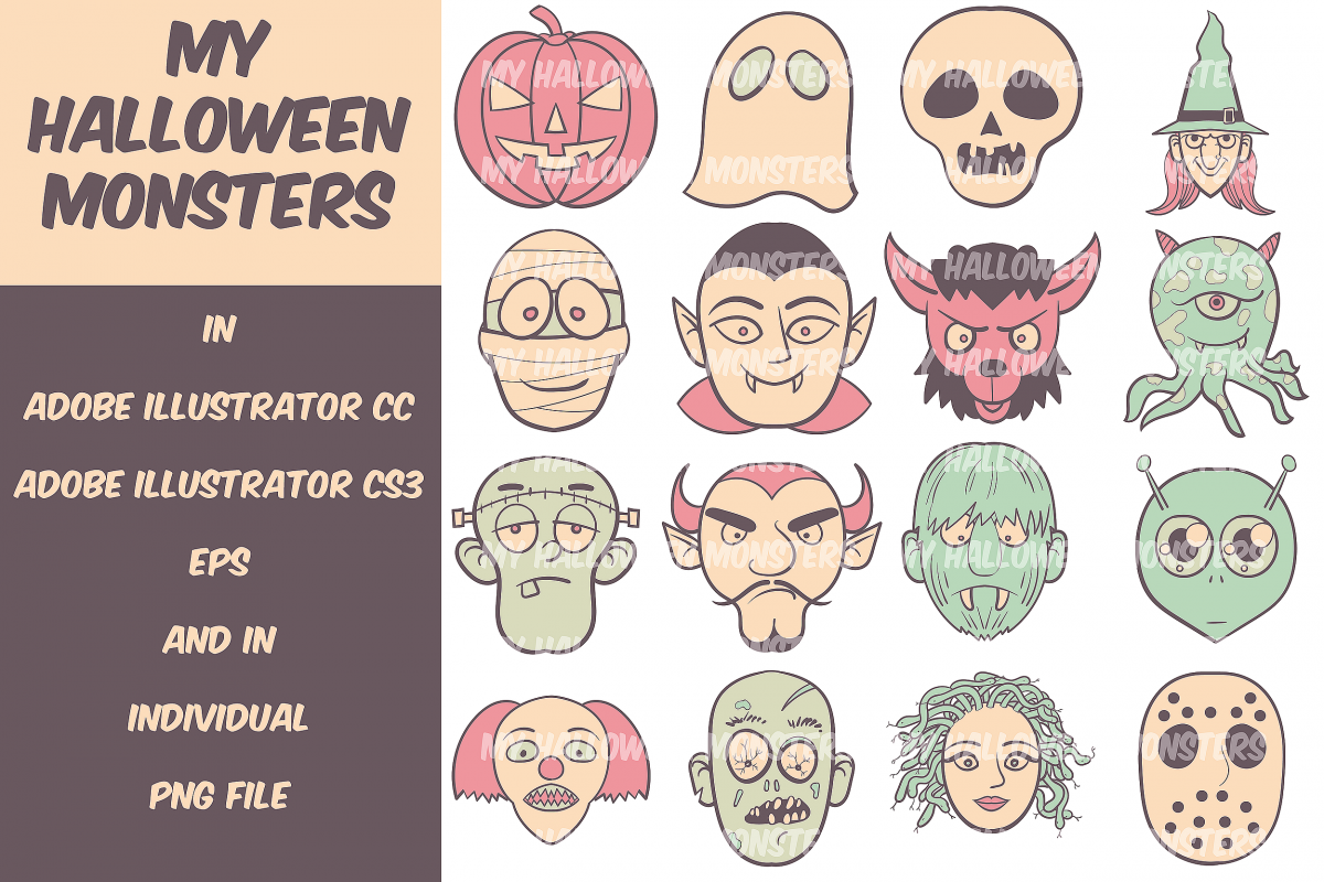 My Halloween Monsters example image 1