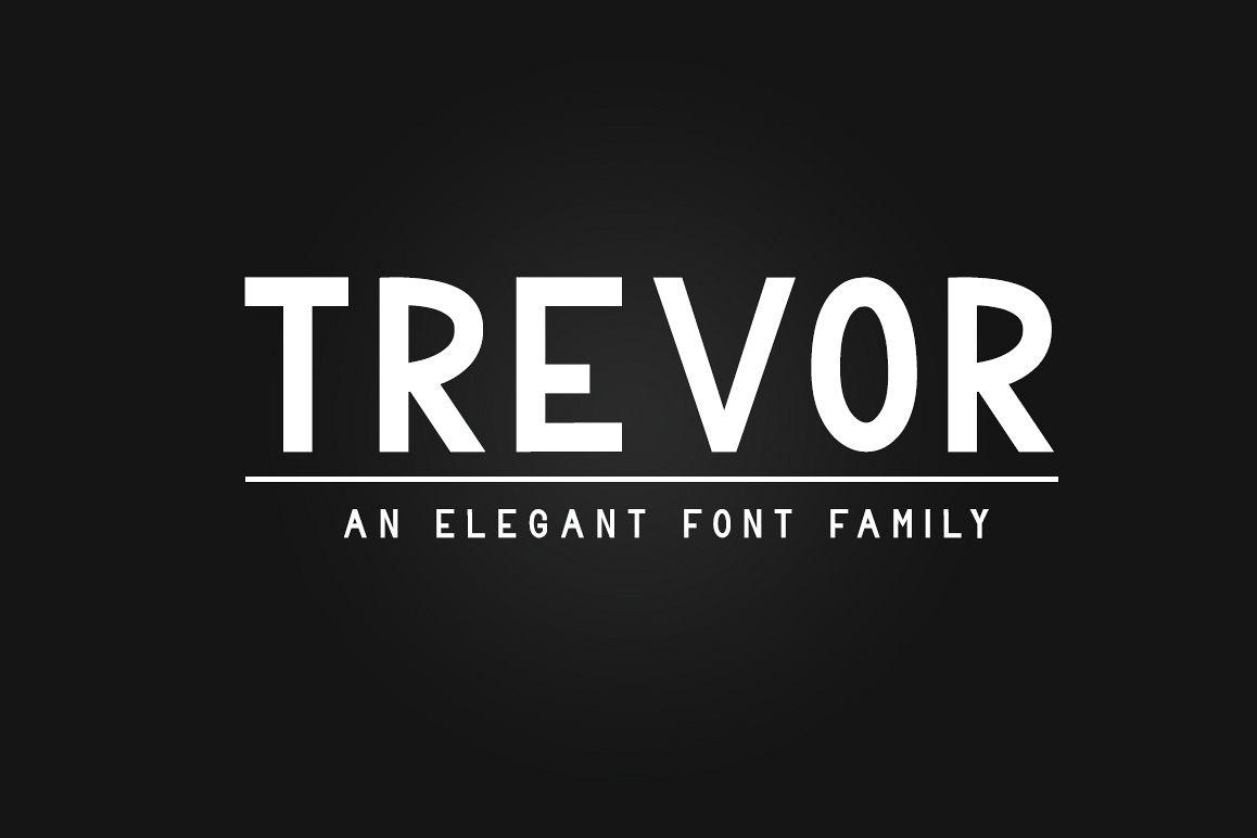 Trevor - Elegant Sans Serif Family Font example image 1