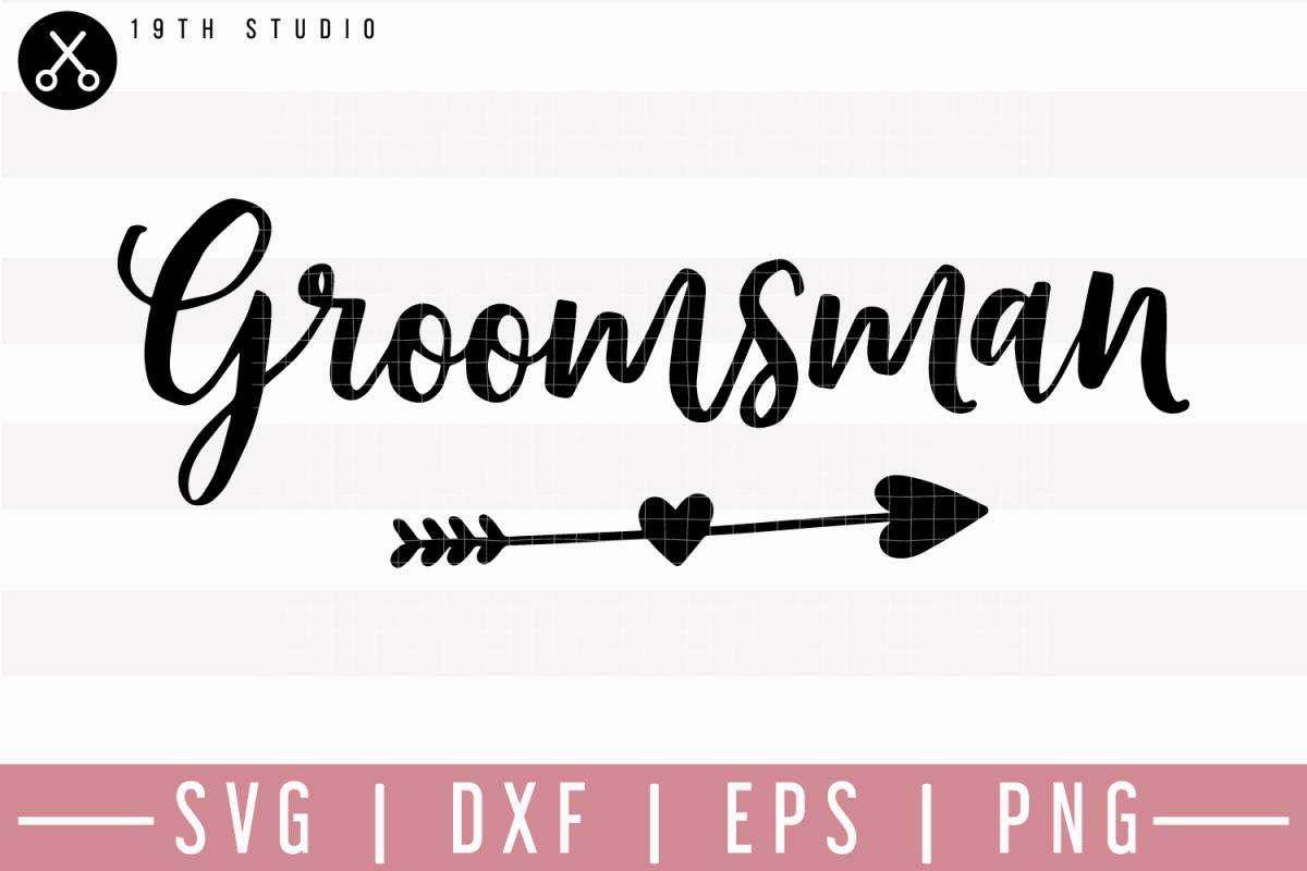 groomsman svg m27f8