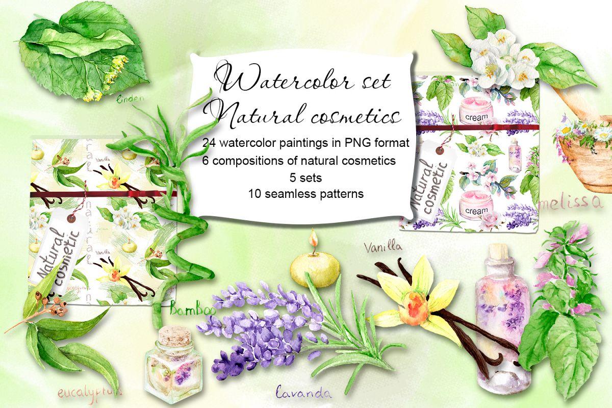 Watercolor set Natural cosmetics example image 1