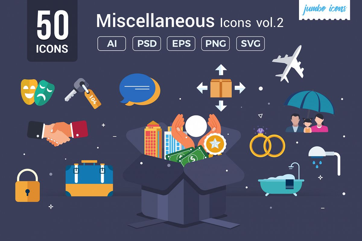 Miscellaneous Vector Icons V2 example image 1