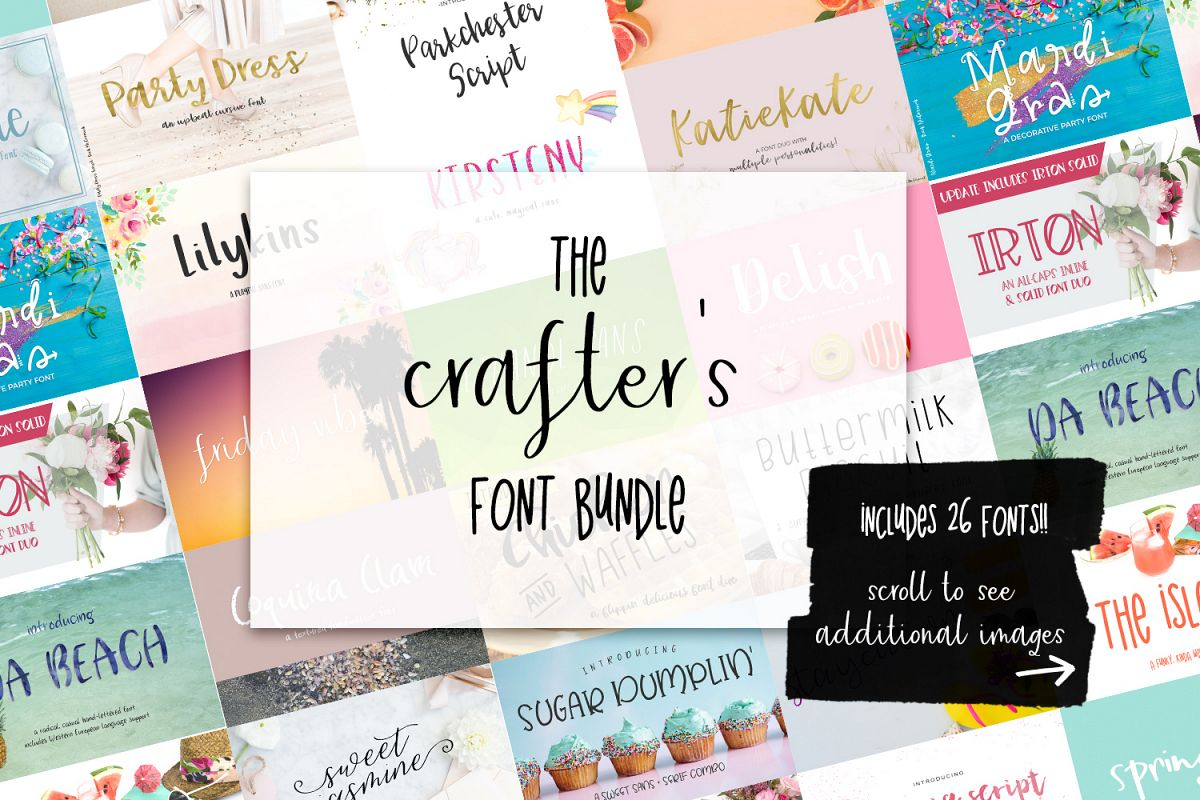 The Crafter's Font Bundle example image 1