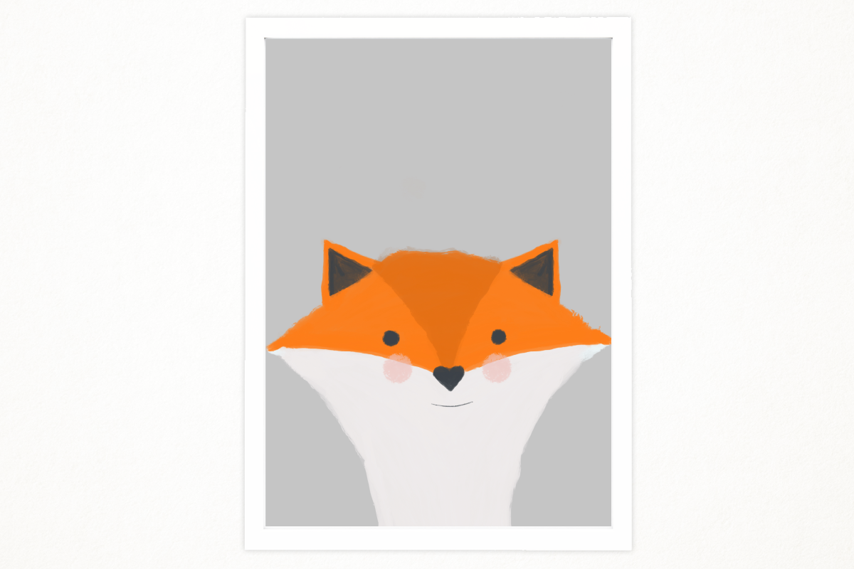 graphic about Fox Printable referred to as Do-it-yourself Minimal fox artwork printable inside A4 toward decor an unique desired destination. Babys place, youngsters place. Instance, printing. Organized in direction of print.