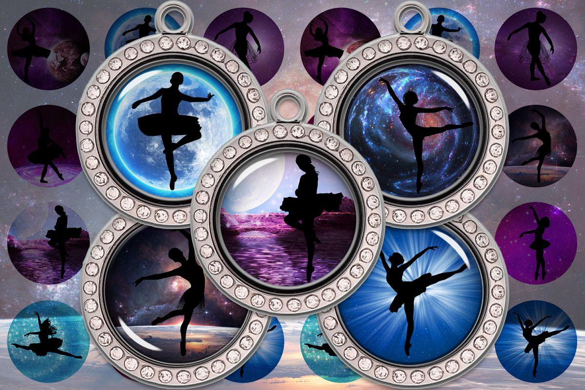 Ballerina Printable,Ballerina Digital Collage Sheet,Ballet example image 1