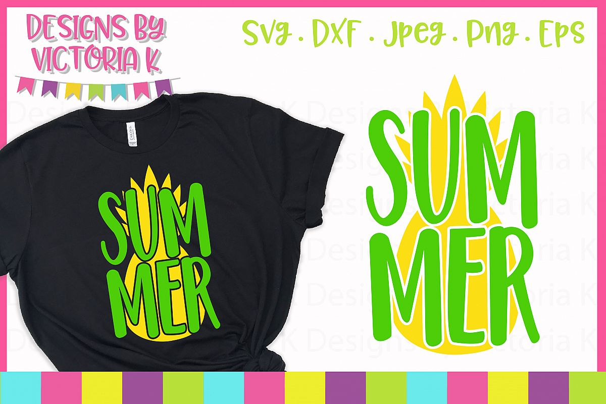 Summer Pineapple, Summer SVG Cut File example image 1