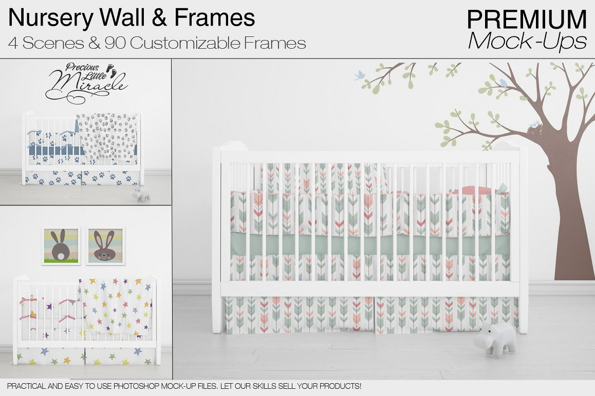 Nursery Wall Frames Set Example Image 1